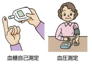 血糖自己測定 血圧測定